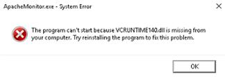 MSVCR140.dll error