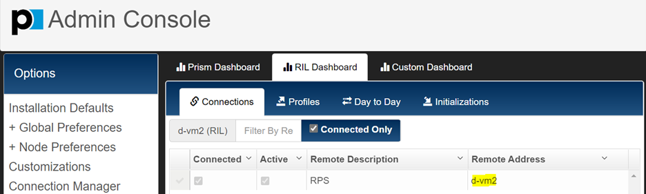 RIL Address in Connection Manager