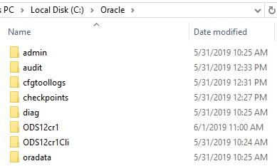 Oracle folder