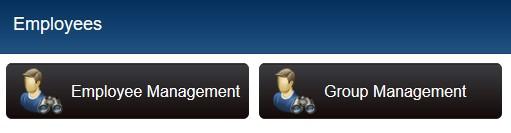 employee management buttons