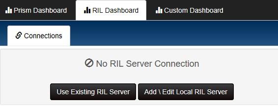 No RIL Server scvreen