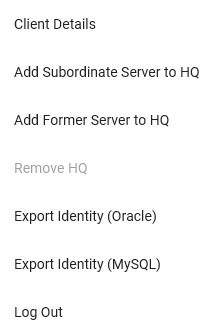 Tech toolkit Server menu
