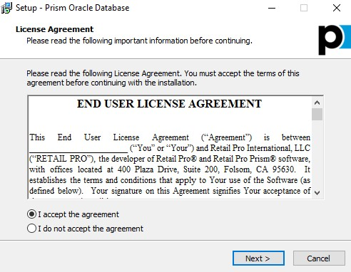 Accept EULA Oracle install