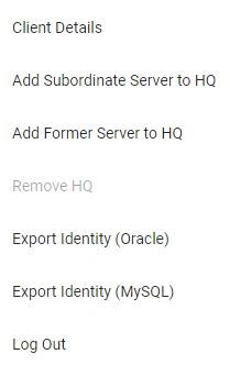 Add subordinate server to HQ