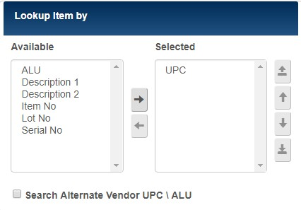 Alternate UPC, ALU lookup preference