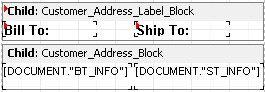 Bill to ship to block