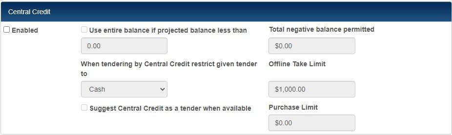 central credit preferences