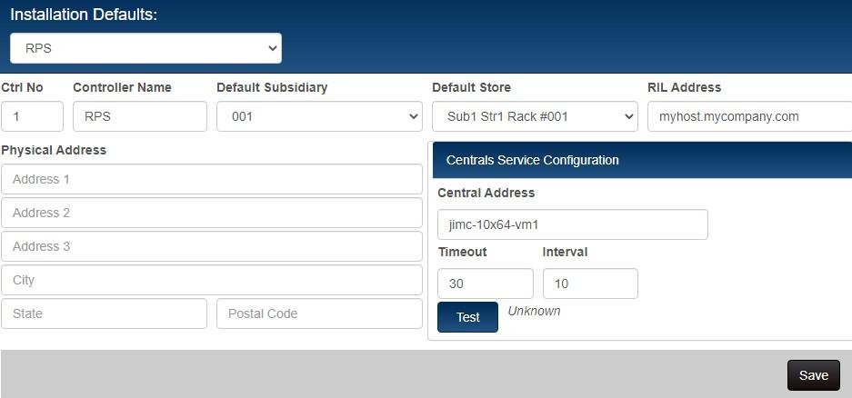 Centrals installation defaults