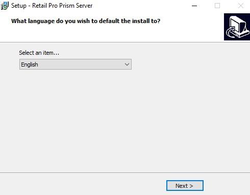 Server install choose language