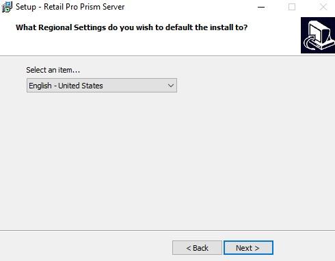 Server install choose region