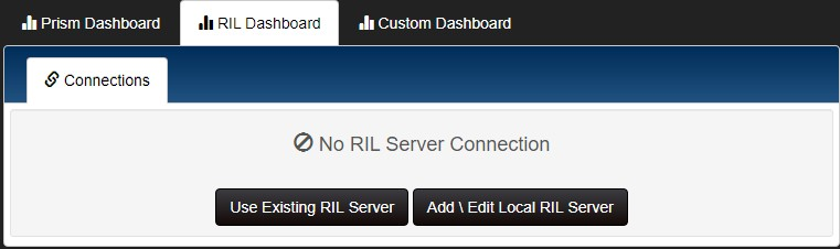 RIL Dashboard add connection