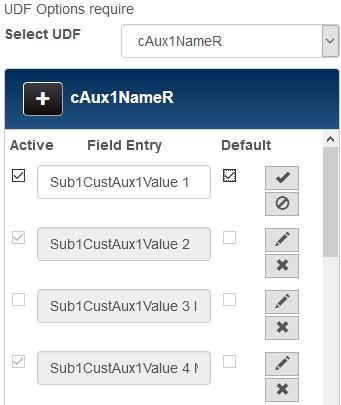 customerudf fields