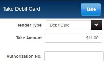 debit card tender