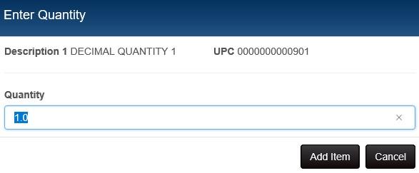 decimal quantity prompt