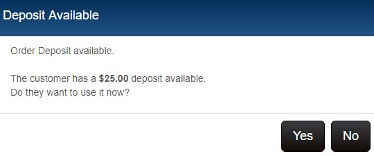 Deposit available prompt