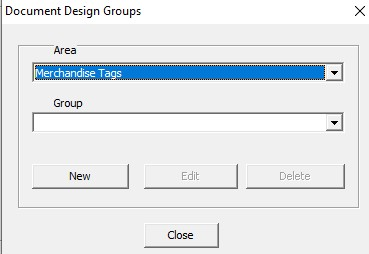 Doc designer groups interface