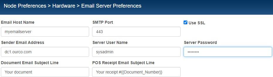 Email server preferences