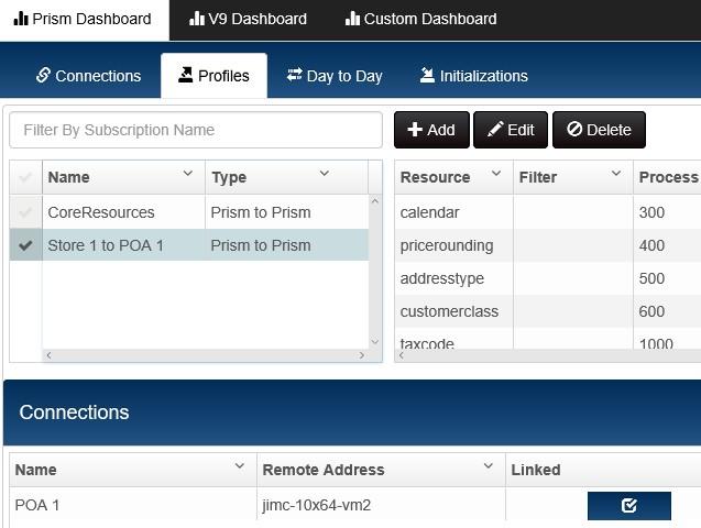 enterprise manager user interface