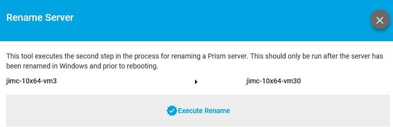 execute rename server