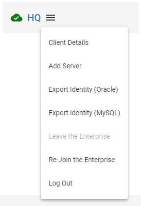 export identity options