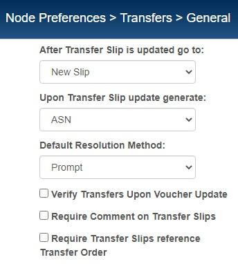 transfer slip preferences