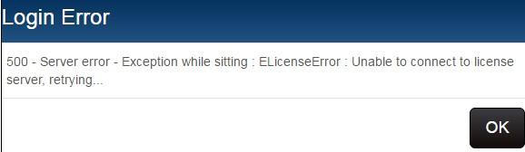 login error message