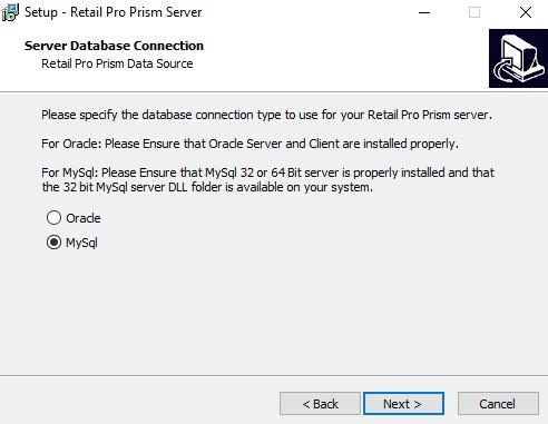 MySQL Server install option