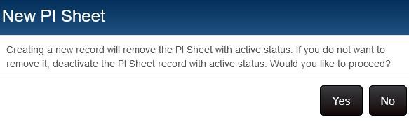 Active PI exists info