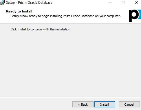 oracle start install