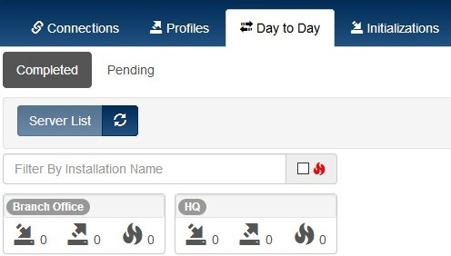 Prism dashboard day to day tab