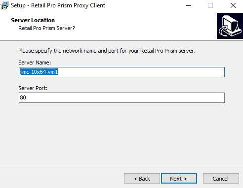 Prism Proxy install screen two