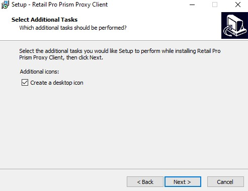 Prism Proxy, install desktop shortcut