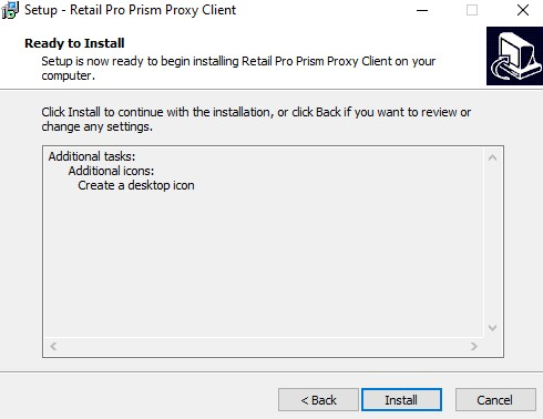 Prism Proxy install, start installation