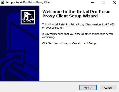 Prism Proxy install