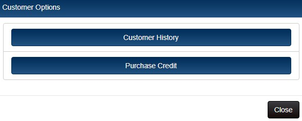 options menu with purchase credit option