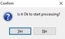 RIL Conversion start prompt