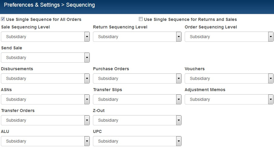 sequencing preferences