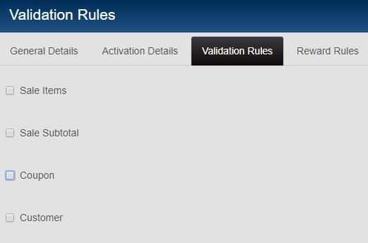serial coupon validation rules 1