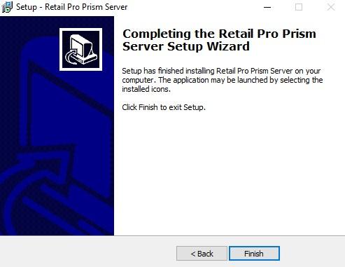 server install finish