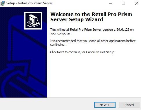 Prism server install start