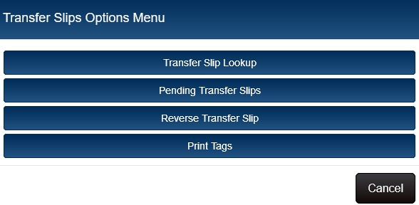 slip options menu