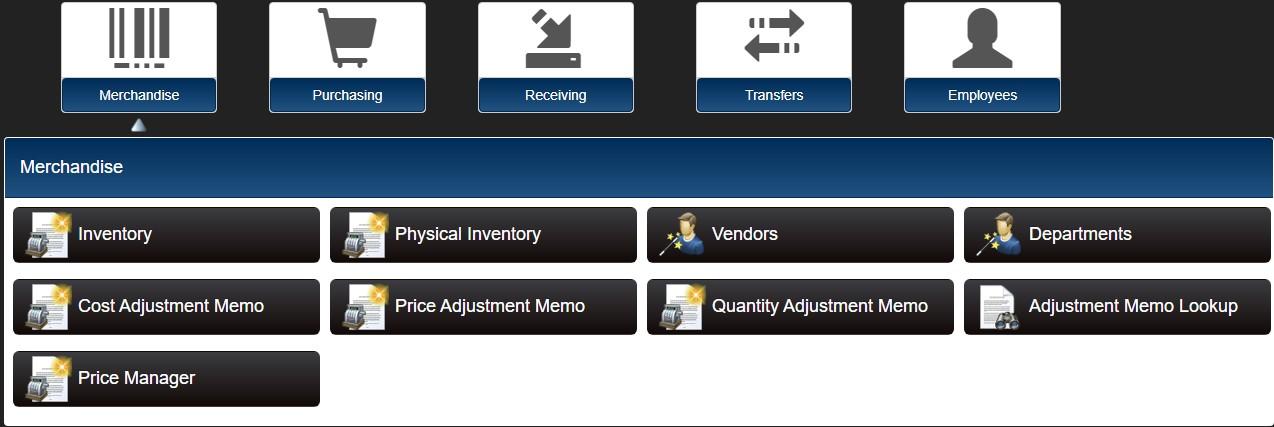 Store operations menu