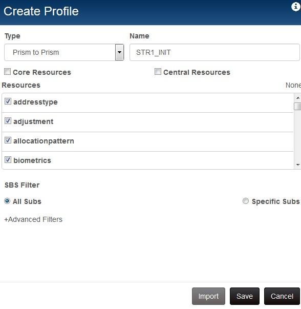 initialization profile
