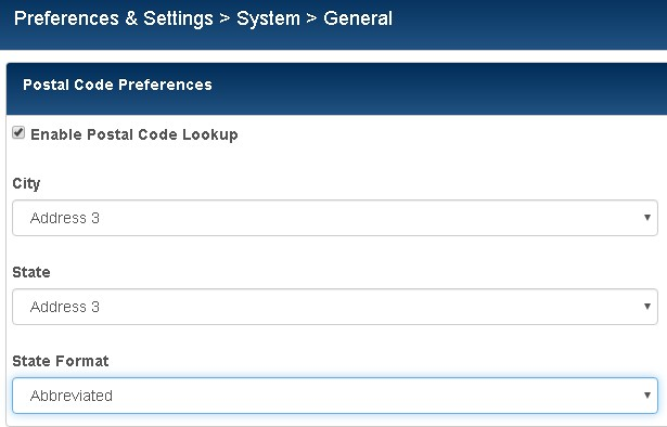 system - general preferences