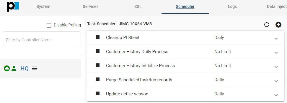 TTK Scheduler default tasks