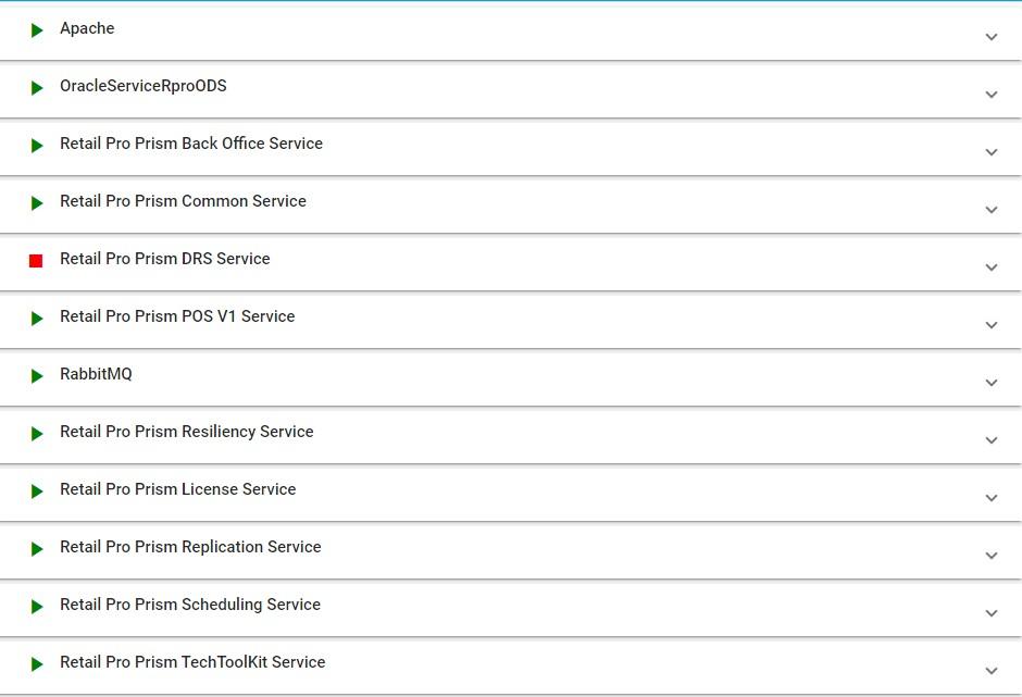 TTK Services tab