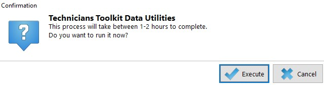 Data Utilities warning